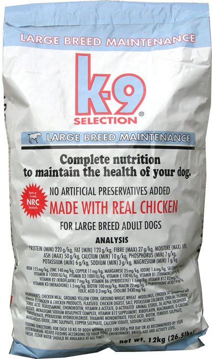 K-9 Selection Maintenance Large Breed 12kg (1)