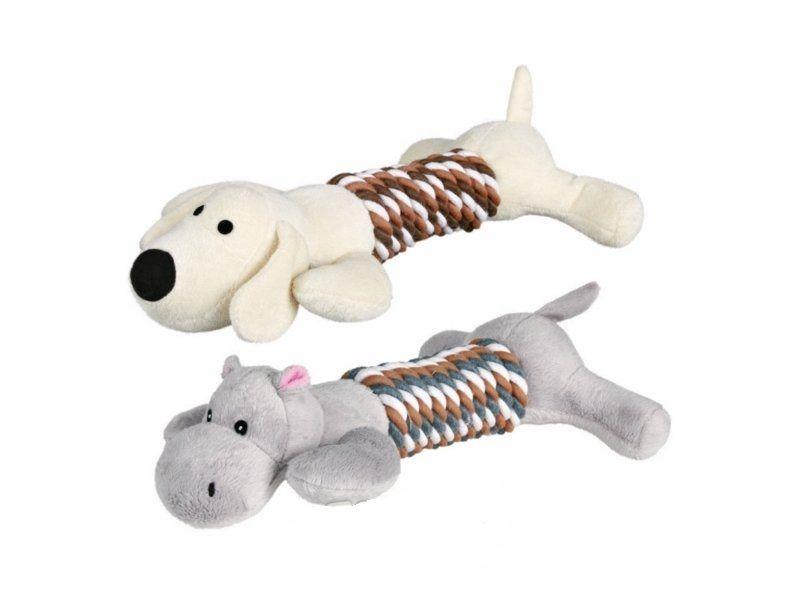 Plyšová aportovací zvířátka pes/hroch 32 cm TRIXIE