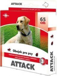 Zobrazit detail - Attack obojek antiparazitární 65cm pes