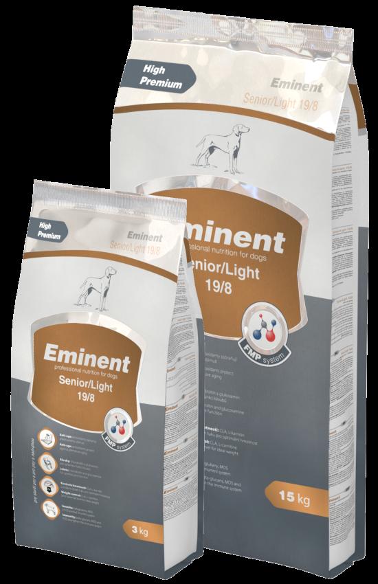 Eminent Dog Senior Light 15 kg + 3kg zdarma