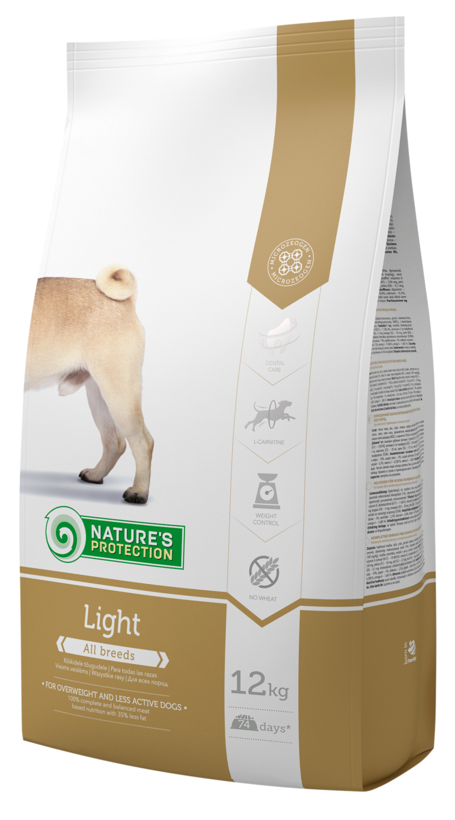 Nature´s Protection Dog Light 12kg + DOPRAVA ZDARMA