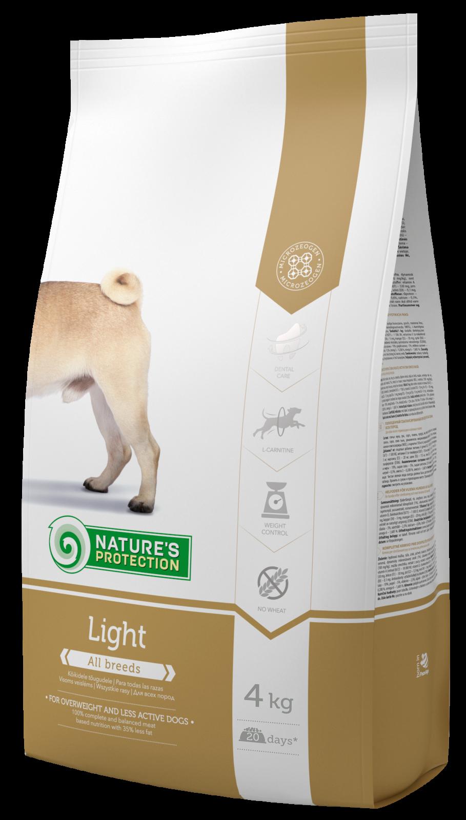 Nature's Protection Dog Light 4kg + DOPRAVA ZDARMA Nature´s Protection