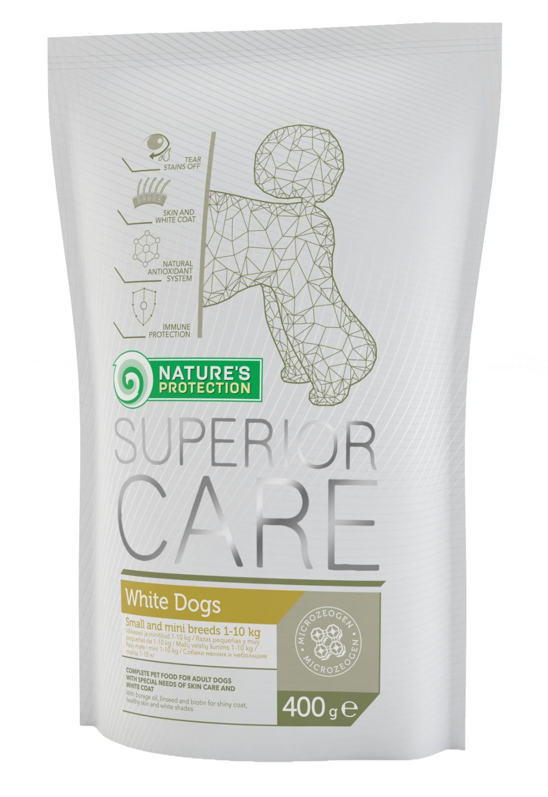 Nature's Protection SC White Dog Adult Small&Mini Breeds 400g