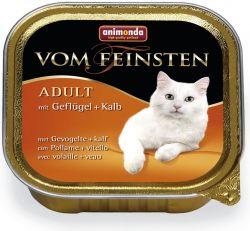 Zobrazit detail - ANIMONDA paštika ADULT - drůbež, telecí pro kočky 100g
