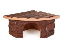Zobrazit detail - Dřevěný dům rohový JESPER pro morče 32x13x21/21cm TRIXIE