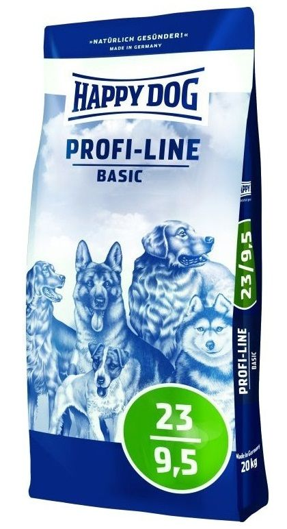 Happy Dog Profi-Line Krokette 23/9,5 Basic 20kg + DOPRAVA ZDARMA