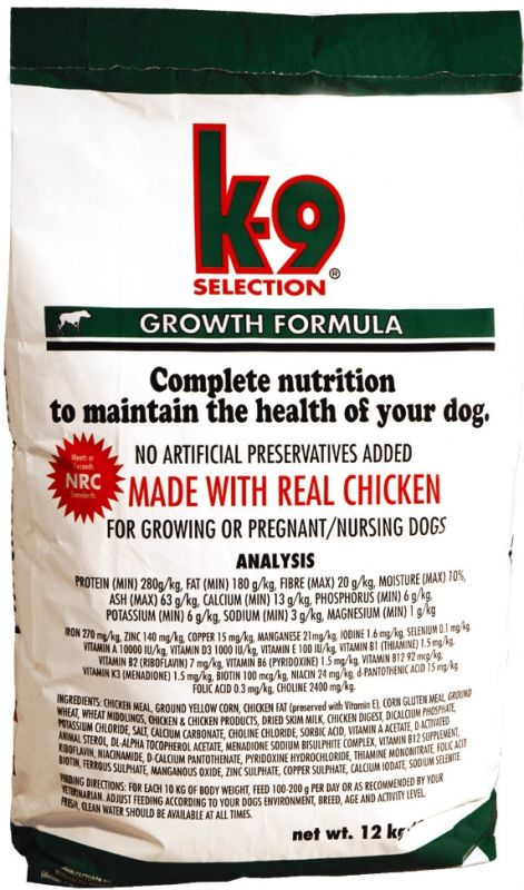 K-9 Selection Growth 12kg