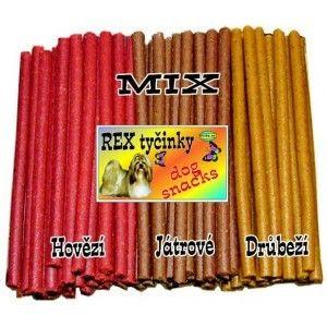Delika-Pet rex tyčinky mix 8mm 730g