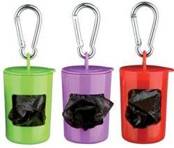 TRIXIE Pick up - plastový zásobník + sáčky na trus,2x role 20 sáčků