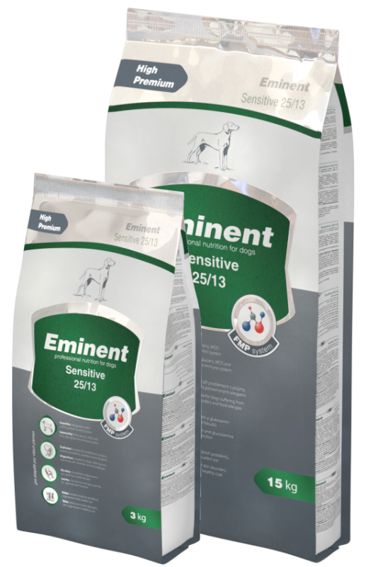 Eminent Dog Sensitive 15kg + 3kg zdarma