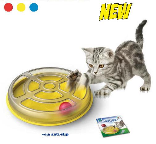 Hračka pro kočky s kuličkou VERTIGO průměr 29x5cm SIERA - Plast