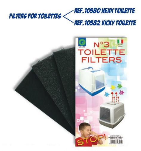 Náhradní filtry do toalet FILTRI TOILETTE 3 ks SIERA - Plast