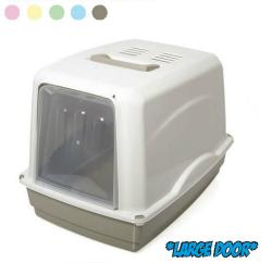 Toaleta pro kočky + filtr VICKY 54x39x39 cm