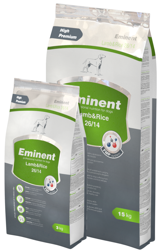 Eminent Dog Lamb & Rice 15 kg + 3kg zdarma