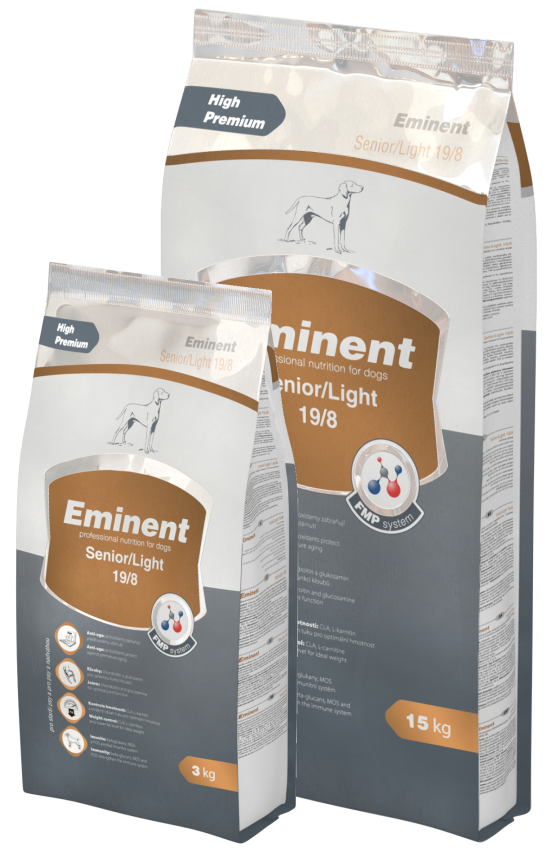 Eminent Dog Senior Light 15 kg + 2kg zdarma