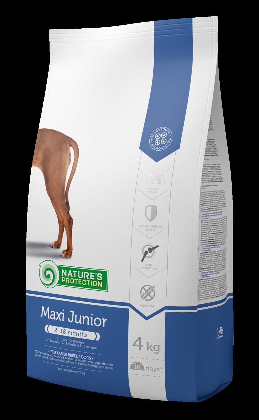 Nature's Protection Dog Maxi Junior 4 kg + DOPRAVA ZDARMA Nature´s Protection
