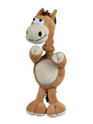 Plyšový kůň s natahovacím krkem, se zvukem 30 cm TRIXIE