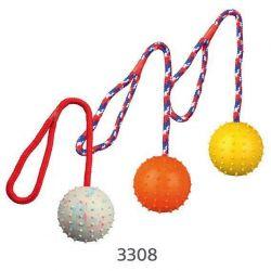 TRIXIE Vrhací míč hrbolatý na šňůře 7cm/30cm