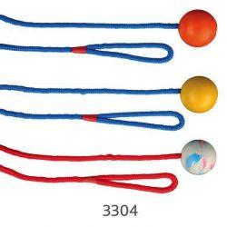 TRIXIE Vrhací míč z tvrdé gumy na šňůře 5 cm/1 m