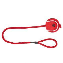 TRIXIE Vrhací tenisový míč s tlapkou na šňůře 6 cm/50 cm