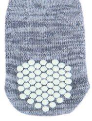 TRIXIE Protiskluzové šedé ponožky, 2 ks pro psy S-M (border kólie)