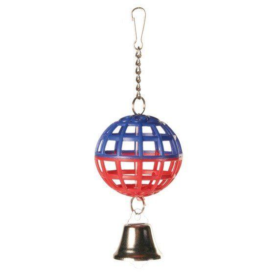 TRIXIE Závěsná koule na řetížku se zvonečkem 7cm