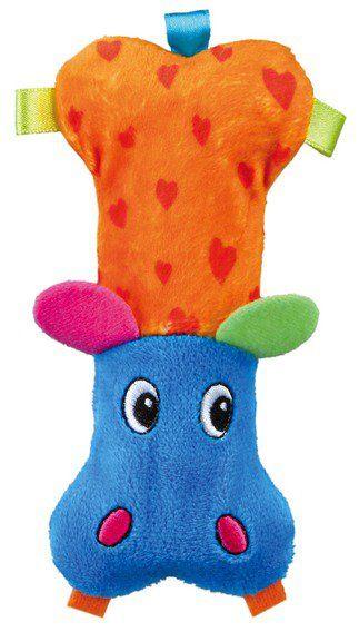 Trixie Mini plyšový hroch, různobarevný 14 cm