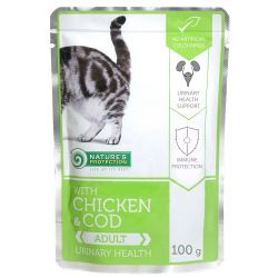 Nature's Protection Cat kapsa Adult Chicken & Cod - Urinary Health 100 g