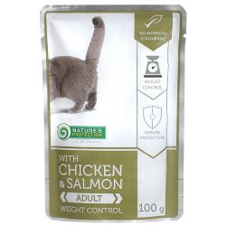 Nature's Protection Cat kapsa Adult Chicken & Salmon - Weight Control 100g