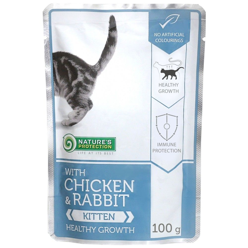 Nature's Protection Cat kapsa Kitten Chicken & Rabbit - Healthy Growth 100 g