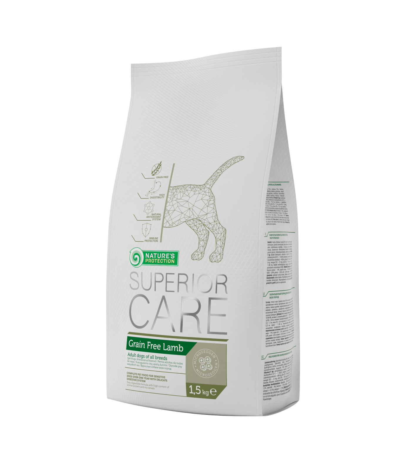 Natures Protection SC Dog Grain Free Lamb 1,5kg Nature´s Protection