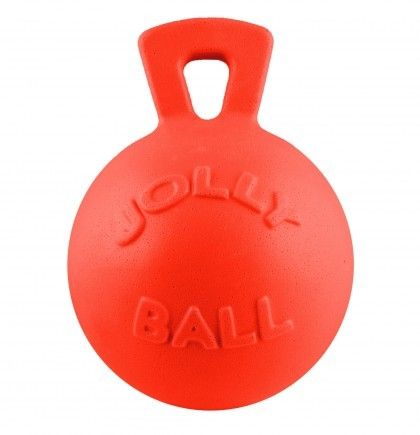 Jolly Ball Tug-n-Toss 20 cm / L - míč s uchem oranžový (s vůní vanilky) Jolly Pets