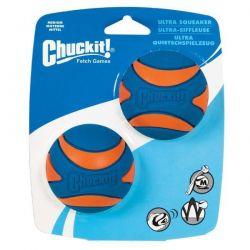 Míček Ultra Squeaker Ball Med. 6,5cm - 2 na kartě