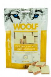 WOOLF pochoutka soft chicken, cod sandwich long 100g