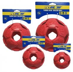 Turbo Kick Soccer Ball 10cm - fotbalový míč pro psy, červený