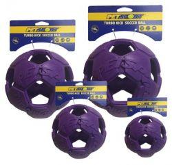 Turbo Kick Soccer Ball 20cm - fotbalový míč pro psy, fialov