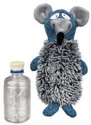 TRIXIE Plyšovo / látková krysa se zvukem a plastovou lahví 21cm