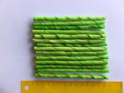 Tyč kroucená buvolí zelená 12cm x 4-6mm