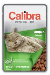 Calibra Cat kapsa Premium Sterilised Salmon 100g