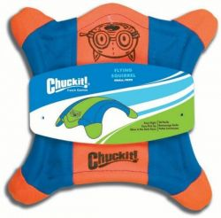Létající talíř S - veverka - oranžovo-modrá