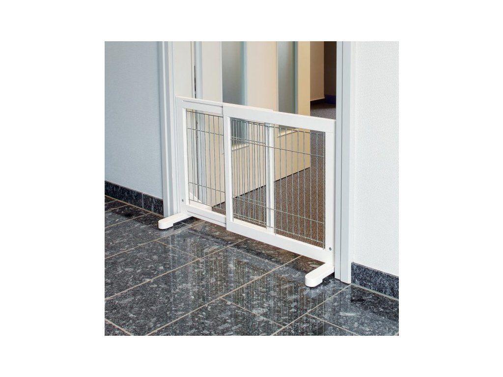Posuvná bariéra pro psy 65-108 x 61 x 31 bílá Trixie