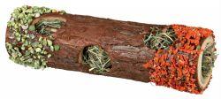 Dřevěný tunel se senem a květy ibišku, mrkví a hráškem 9 x 30 cm, 35 g