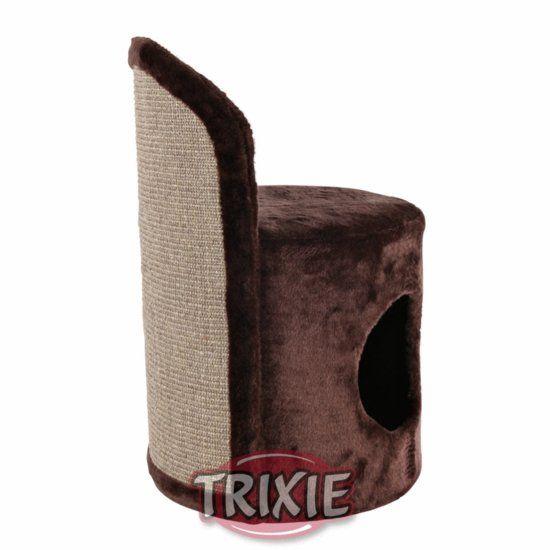 Škrábadlo EDITION 40 s budkou a pelíškem, šedé 82cm DOPRODEJ Trixie