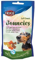 Soft Snack BOUNCIES mini kostičky kuřecí,jehněčí,dršťky 75 g