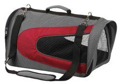 ALINA bag, nylonová přepravní taška se síťkou 27x27x52 cm,  - šedá/bordó max 6kg