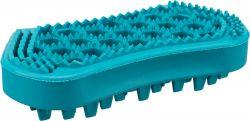 Masážní kartáč 6x12 cm přírodní guma tyrkysový