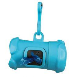 Plast.zásobník na sáčky na trus, tvar KOST,vč.1 role 15ks M