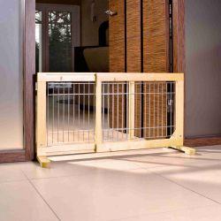 Posuvná bariéra pro štěňata amalé psy 63-108x50x31 cm