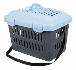 Transportní box MIDI CAPRI 44x33x32cm max.do 5kg TRIXIE,  - modro/šedá