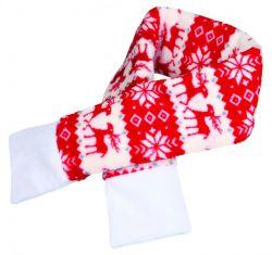 Vánoční šála M 70cm červená